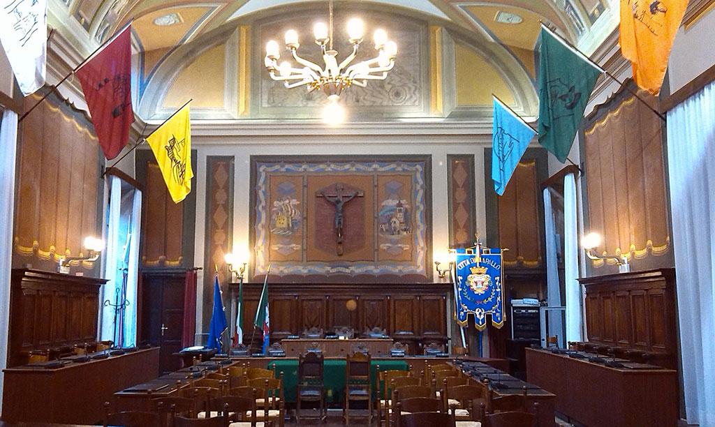 Sala consiliare del palazzo comunale